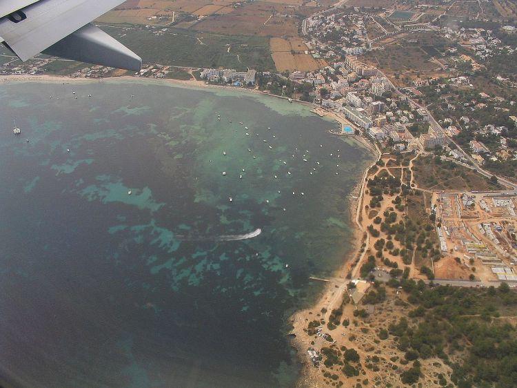Anflug auf Ibiza