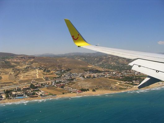 Anflug auf Kreta