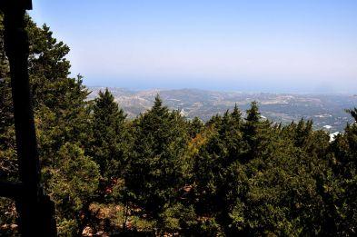 Blick vom Balkon auf die Nordküste von Rhodos